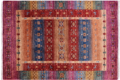 Tribal Persian Gabbeh Hand Knotted Rug