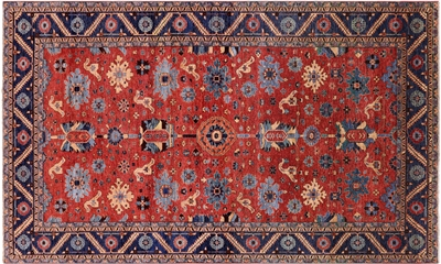 Persian Fine Serapi Hand Knotted Wool Rug