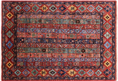 Hand-Knotted Persian Gabbeh Shall Wool Rug