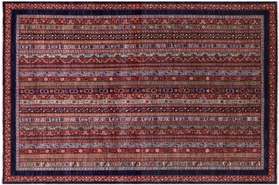Persian Gabbeh Shall Hand Knotted Rug