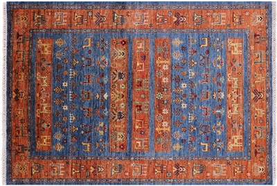 Tribal Persian Gabbeh Hand-Knotted Wool Rug