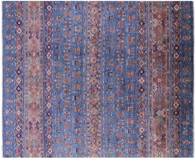 Hand-Knotted Tribal Persian Gabbeh Rug