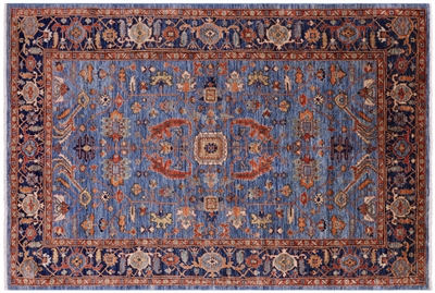 Hand-Knotted Persian Fine Serapi Wool Rug