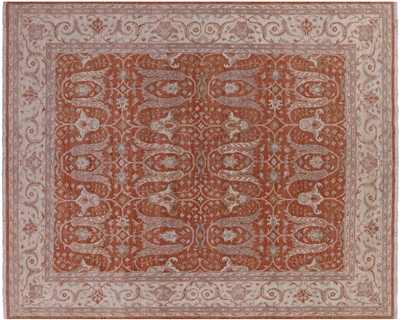 Hand-Knotted Peshawar Wool Rug