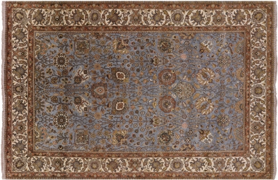 Tabriz Persian Hand-Knotted Wool Rug