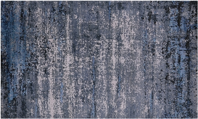 Abstract Wool & Silk Hand Knotted Area Rug