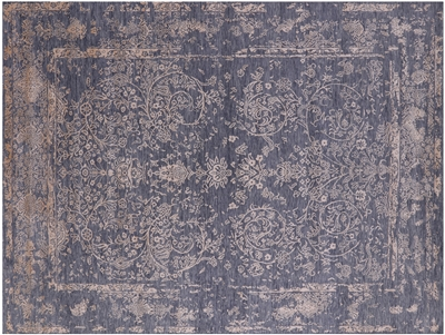 Hand Knotted Wool & Silk Persian Rug