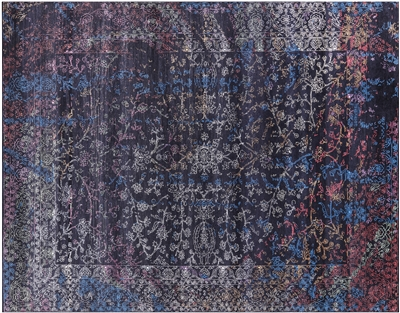 Persian Wool & Silk Hand Knotted Rug
