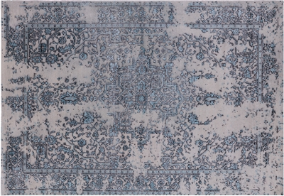 Persian Wool & Silk Hand Knotted Area Rug