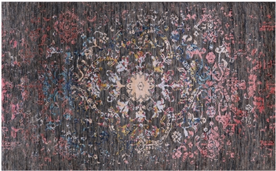 Wool & Silk Abstract Persian Hand Knotted Rug