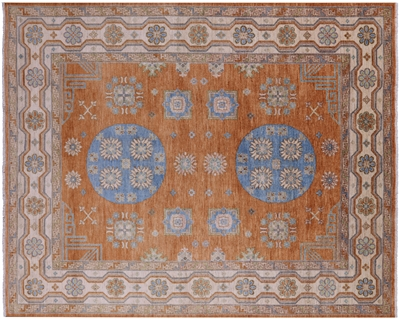 Khotan Hand-Knotted Wool Rug