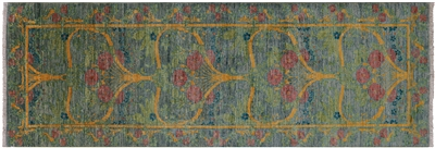 Runner Hand Knotted William Morris Wool Rug