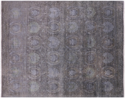 Overdyed Full Pile Hand Knotted Rug