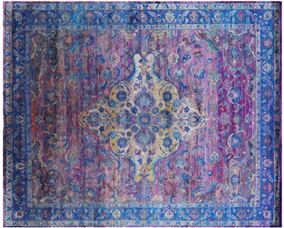 Persian Hand-Knotted Silk Rug