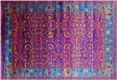 Hand Knotted Persian Silk Rug