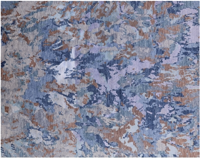 Wool & Silk Modern Hand Knotted Rug