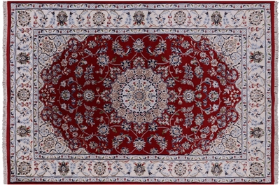 Wool & Silk Persian Nain Hand Knotted Rug