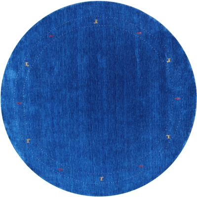 Round Persian Gabbeh Hand-Knotted Rug