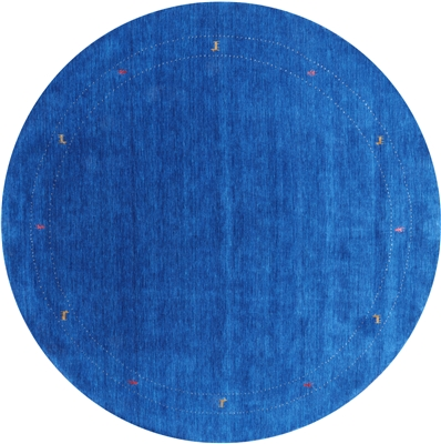 Round Persian Gabbeh Hand Knotted Wool Rug