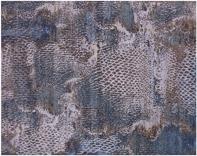 Hand Knotted Modern Animal Print Desing Wool & Silk Rug