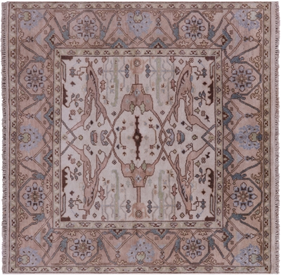 Square Oushak Hand Knotted Wool Rug