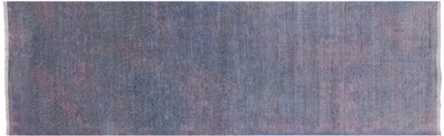 Runner Overdyed Full Pile Hand Knotted Rug