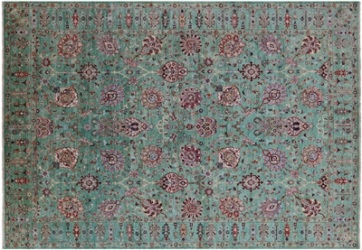 Hand Knotted Persian Tabriz Wool Rug