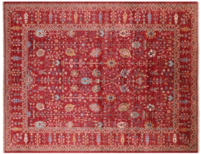 Hand-Knotted Persian Tabriz Wool Rug