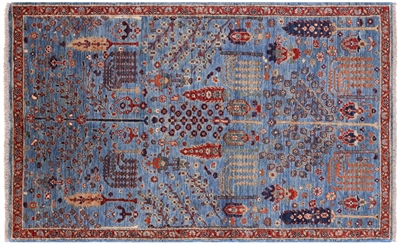 Persian Ziegler Hand Knotted Wool Rug