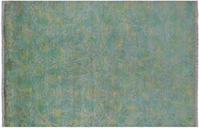 Overdyed Full Pile Hand-Knotted Rug