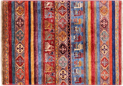Persian Gabbeh Tribal Hand-Knotted Rug