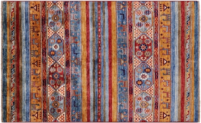 Hand Knotted Persian Gabbeh Tribal Rug