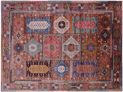 Hand-Knotted Tribal Fine Serapi Wool Rug