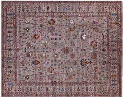 Persian Tabriz Hand-Knotted Wool Rug