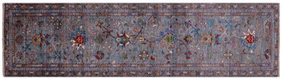 Runner Persian Tabriz Hand-Knotted Wool Rug
