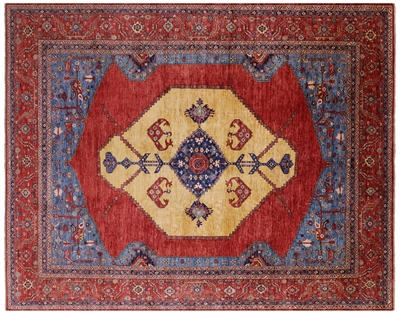 Persian Fine Serapi Hand-Knotted Wool Rug
