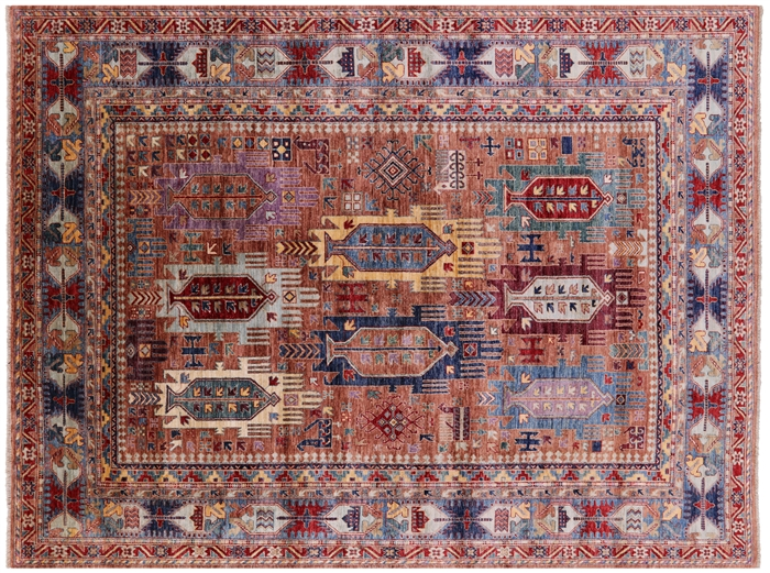 Tribal Fine Serapi Hand-Knotted Wool Rug