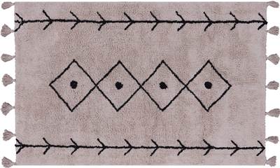 Moroccan Hand-Knotted Wool Rug