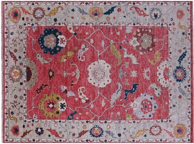 Turkish Oushak Handmade Wool Rug