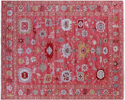 Turkish Oushak Hand Knotted Wool Rug