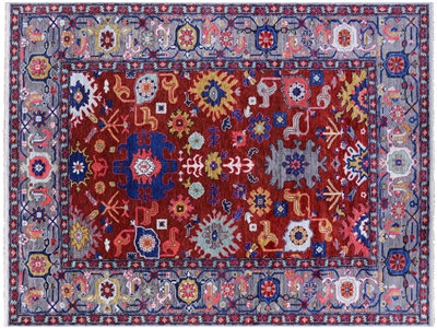 Hand Knotted Turkish Oushak Wool Rug