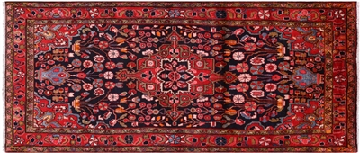 Authentic Persian Nahavand Runner Rug