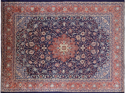 New Hand Knotted Persian Sarouk Wool Area Rug