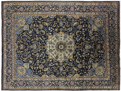 New Hand Knotted Persian Kashan Oriental Wool Area Rug