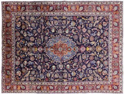 New Oriental Hand Knotted Persian Mashhad Area Rug