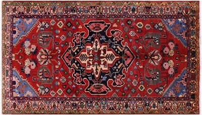 New Hand Knotted Hamadan Persian Area Rug