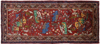 New Handmade Persian Qum Oriental Wool Area Rug