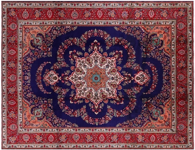 New Handmade Persian Tabriz Area Rug