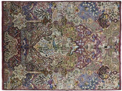 New Handmade Pictorial Scenery Oriental Authentic Persian Kashmar Area Rug
