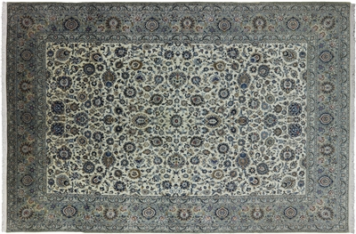 New Signed Persian Kashan Area Rug
